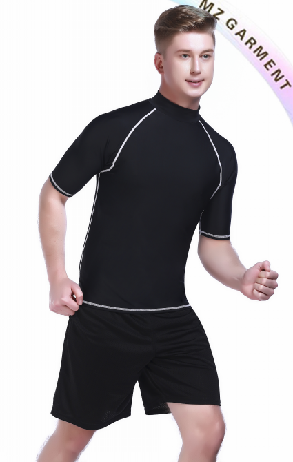 Mens Rash Guard Long Sleeve, Fabric 80% Nylon, 20% Spandex, 50+SPF/UPF