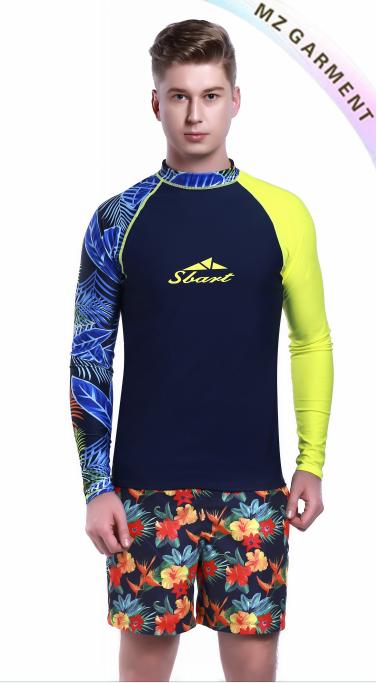 Rash Guard Guys, 80% Nylon, 20% Spandex, OEM Service Available