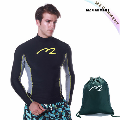 Rash Vest for Men, Euro Size, 82% Nylon, 18% Spandex, S-XXL, Black