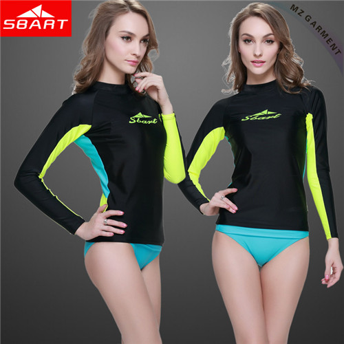 Women Long Sleeve Rash Vest
