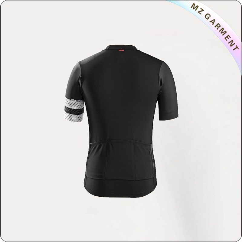 Black & White Short Sleeve Cycling Wear