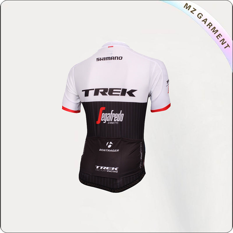 Black & White Short Sleeve Jersey Cycling Wear