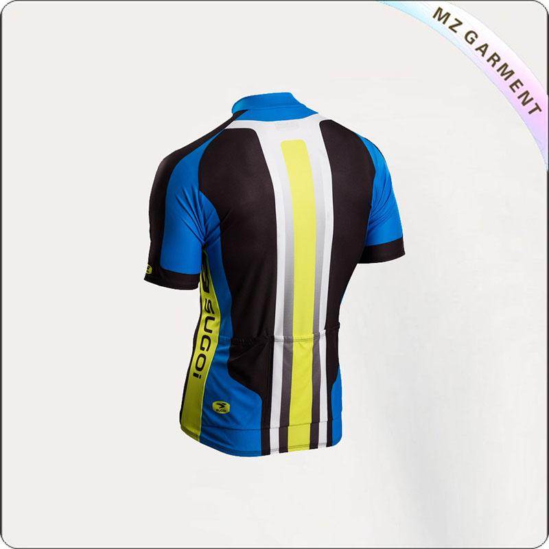 Blue & Yellow Short Sleeve Jersey Cycling Wear