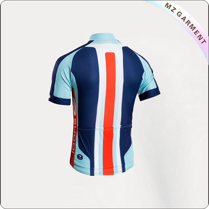 Light Blue & Red Short Sleeve Cycling Wear