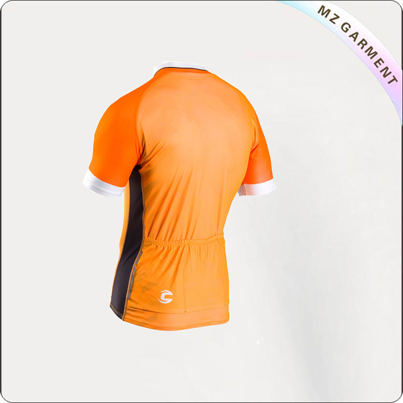 Orange Short Sleeve Cycling Wear