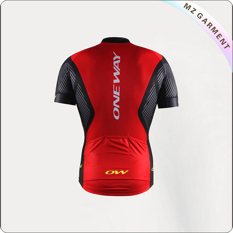 Red & Black Short Sleeve Cycling Wear