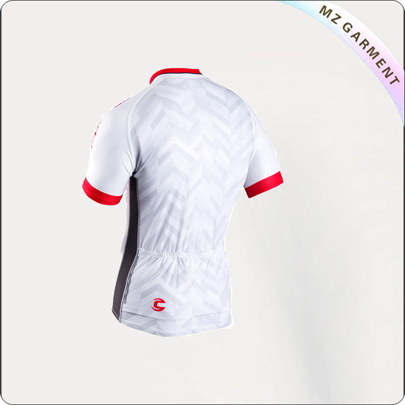 White & Red Short Sleeve Jersey