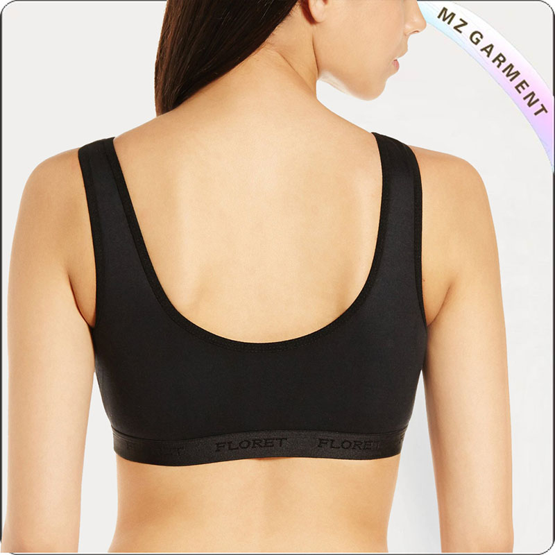 Black Moulded Cup Exercise Bra