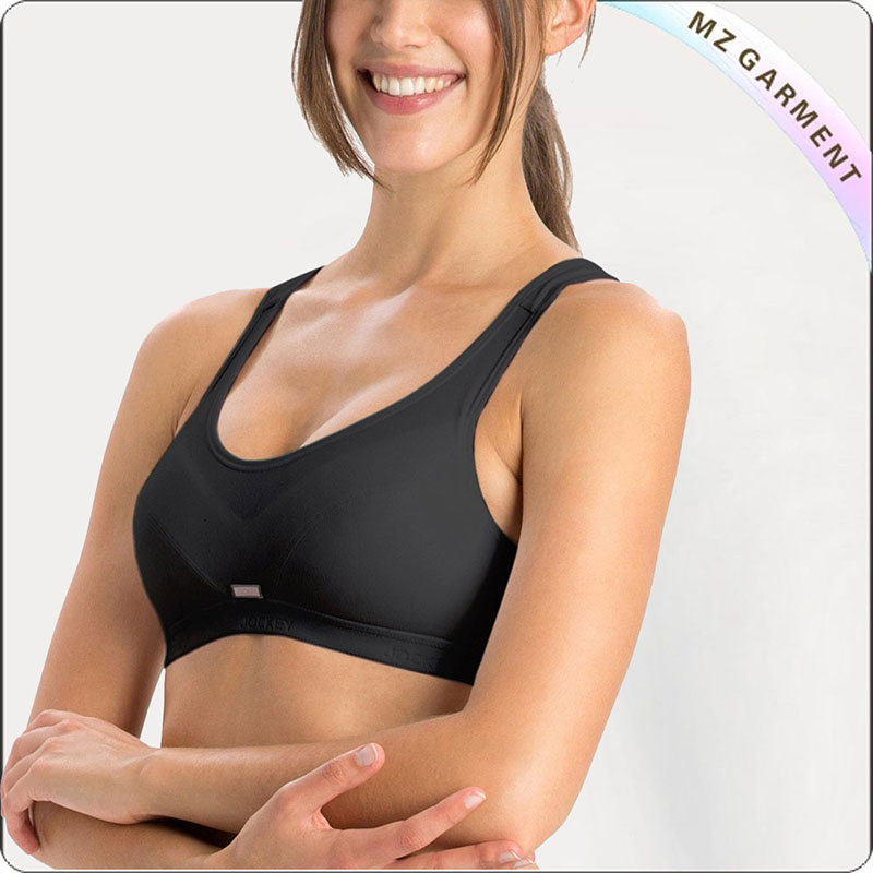 Black Slip On Active Exercise Bra