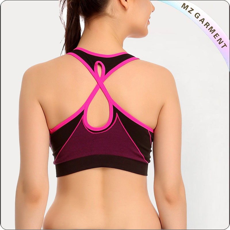 Pink Comfy Padded Exercise Bra