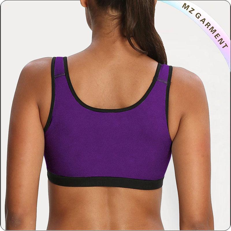 Purple Slip On Exercise Bra