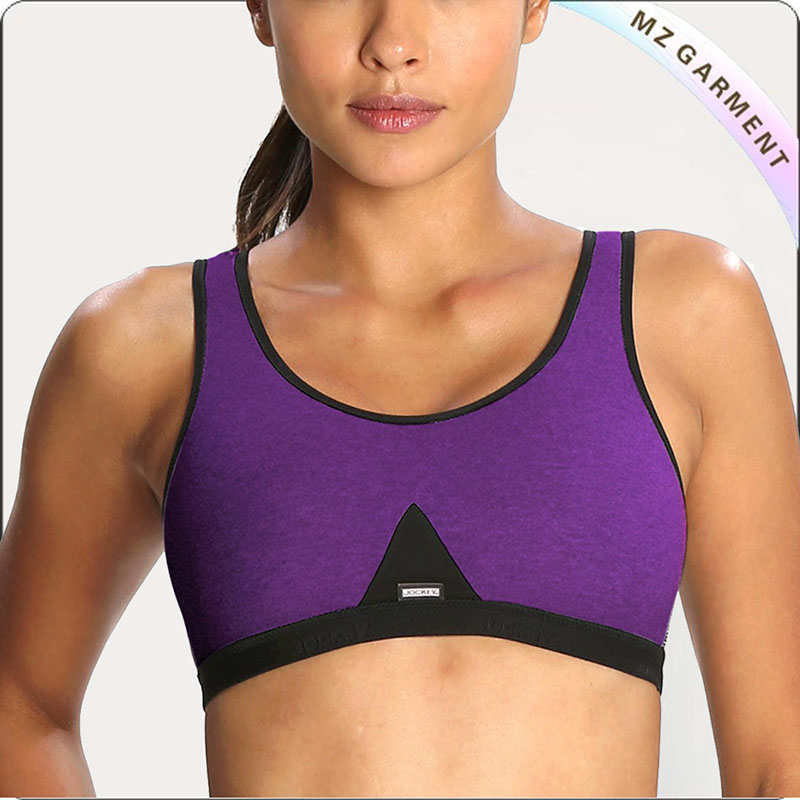 Purple Slip On Exercise Bra