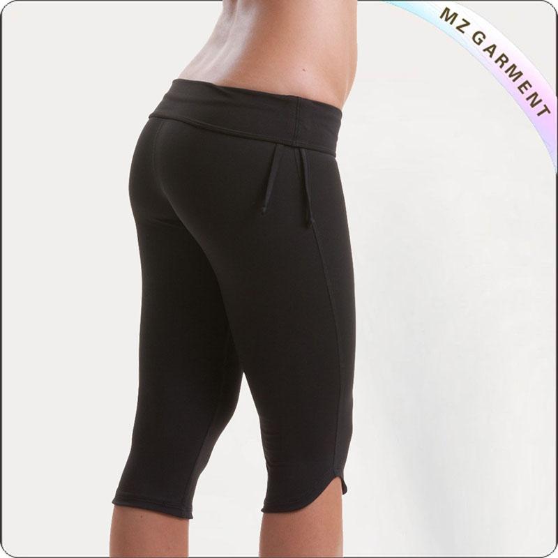 Black Cover Knee Yoga Wear