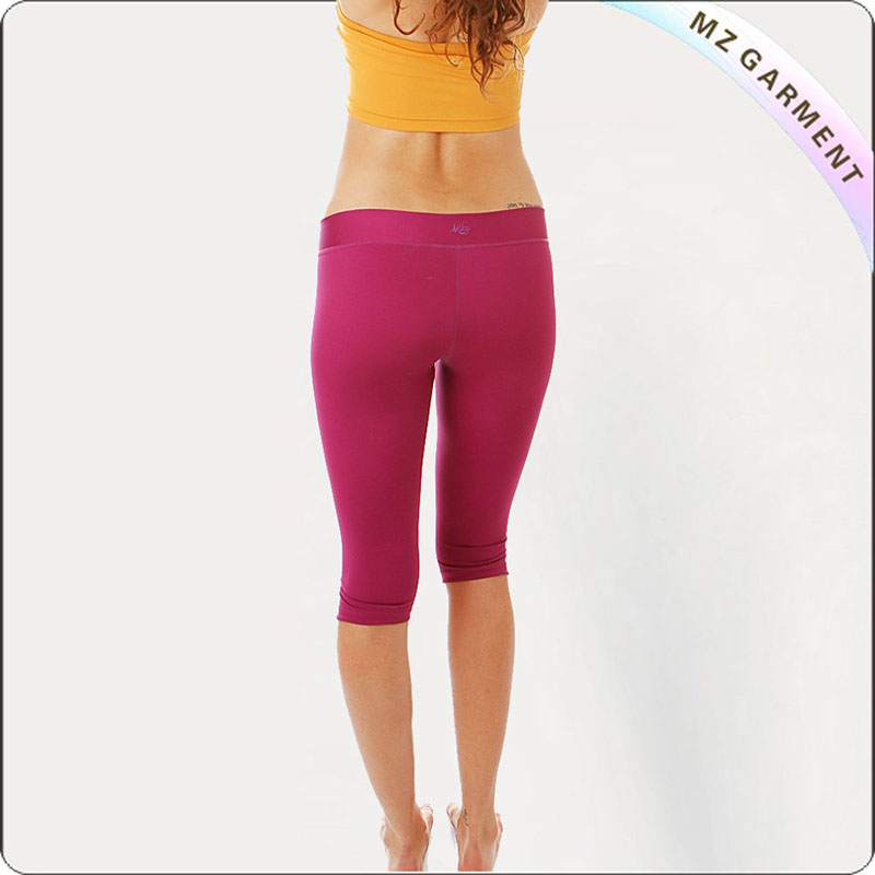 Dark Red Legging Yoga Wear