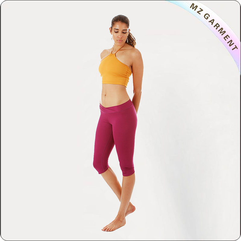 Dark Red Legging Yoga Wear