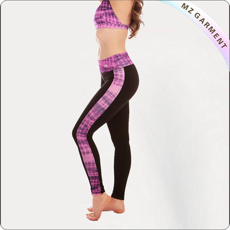 Purple & Black High Waist Yoga Wear
