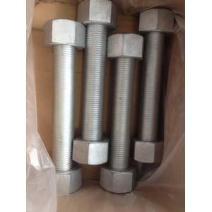 ГОСТ 7798-70 резьбовой болт, 2 гайки, DN (Dy) 20 мм х DN (Dy) 125 мм