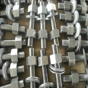 ГОСТ 7798-70 резьбовой болт и 2 гайки, DN 15 мм х DN 150 мм