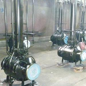 Кованый шаровой клапан с удлиненным валом, DN 300 мм, 300 Lb