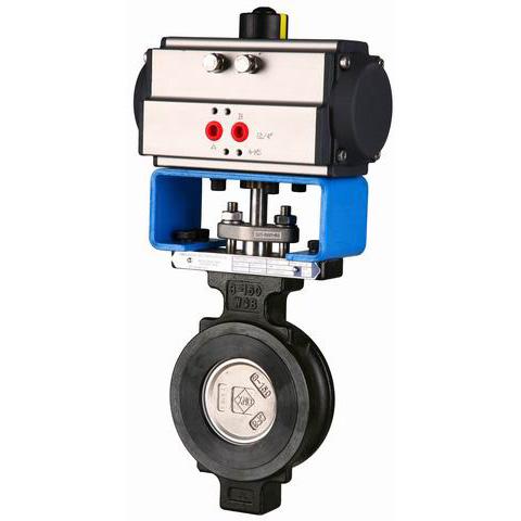 ГОСТ 12521-77 клапан бабочка с пневмоприводом, DN (Dy) 32 - 1600 мм, 150lbs,300lbs,600lbs