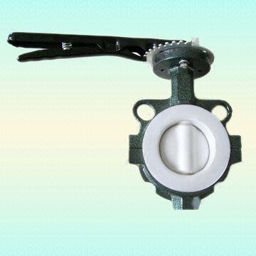 ГОСТ 12521-77 клапан бабочка с тефлоновым вкладышем, PN 0,6 - PN 1,0 MPa, DN 40 - 600 мм