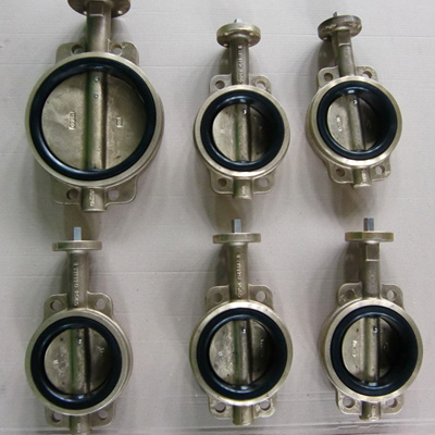 ГОСТ 25923 Поворотная заслонка пластинчатого типа из алюминиевой бронзы, DN 125 мм, DN 150 мм, 120 LB