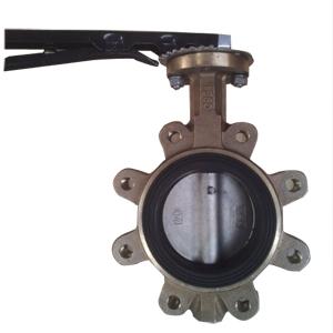 ГОСТ Р 53673-2009 Рифленый клапан бабочка из алюминиевой бронзы, 1500 Lb, DN 80 мм