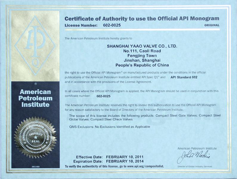 Certificado API