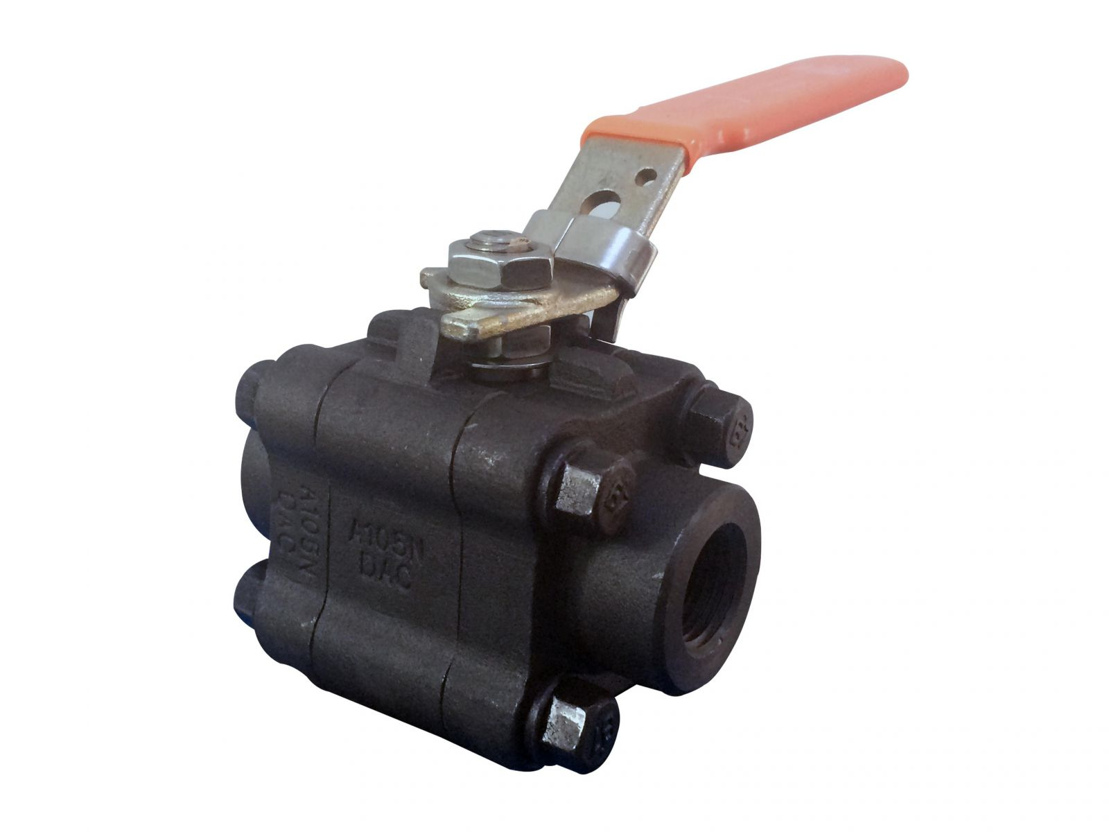 API 6D Three Pieces Ball Valve, A105N, 1 Inch, 1500LB