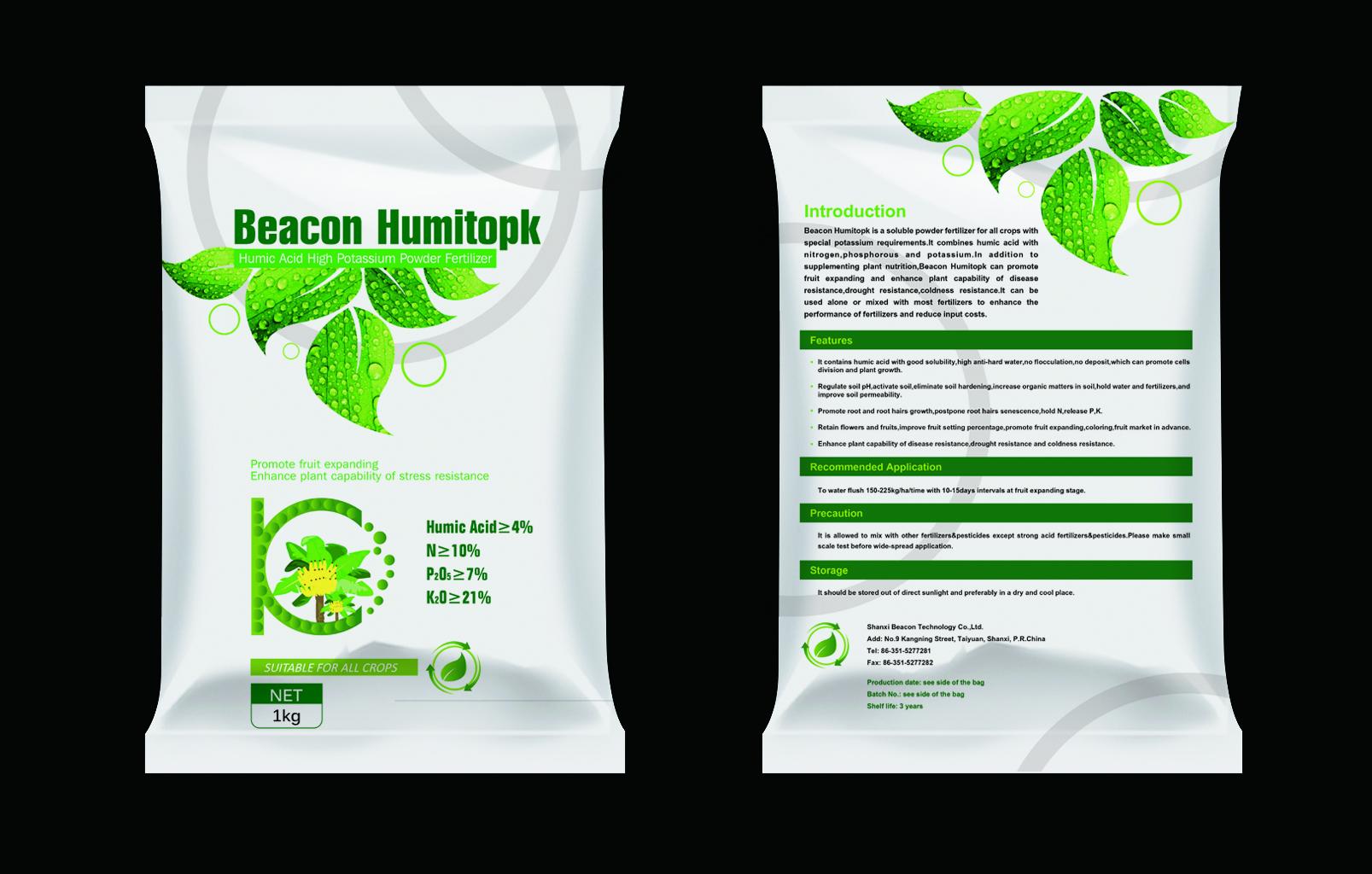 Humitopk Humic Acid High Potassium Powder Fertilizer