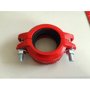 ASTM A536 Ductile Iron Grooved Coupling, 80MM, Epoxy Painting