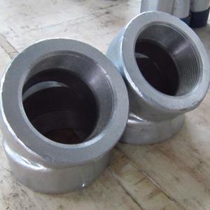 ASME B16.11 Galvanized 45D Elbows, ASTM A105, DN80, PN400