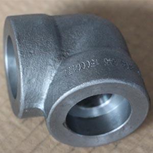 ASTM A105 90D Elbows, DN25, 6000 LB, SW, Galvanized