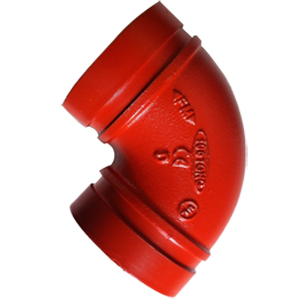 ASTM A536 90D Long Radius Grooved Elbows, 100MM, Epoxy Painting