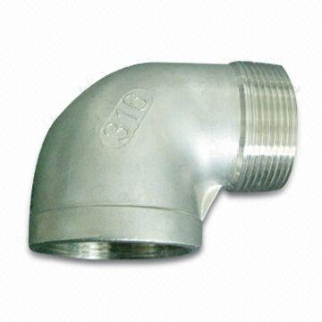 SS304/SS316 Threaded Pipe Elbow, ANSI, JIS, DIN, DN15 to DN100