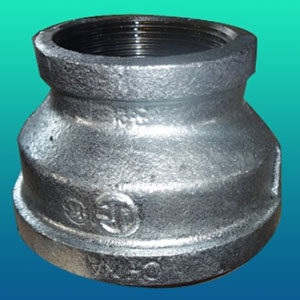ASTM A197 Concentric Reducer, DN20 X DN15, PN 20, NPT Ends, Galvanized