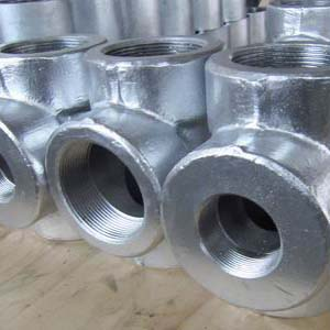 ANSI B16.11 Forged Equal Tee, ASTM A105, DN80, PN400, Threaded