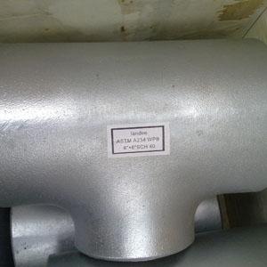 ASME/ANSI B16.9 Seamless Tee, ASTM A234 WPB, DN200 X DN150, SCH 40