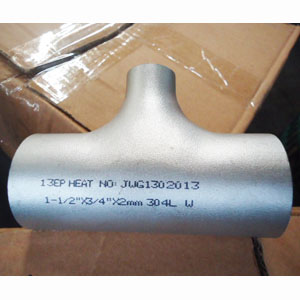 ASTM A403 WP304L Reducing Tee, ANSI B16.9, DN40 X DN20, WT 2MM