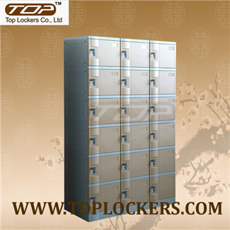 Six Tier Plastic Cabinet, Strong Lockset for Security, Rust Proof