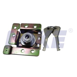 Cam Lock for Payphone, Harden Steel, Brass, Shiny Chrome