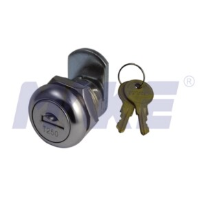 Flat Key Cam Lock, Zinc Alloy, Shiny Chrome, Nickel Plated