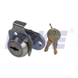 Zinc Alloy Flat Key Cam Lock, Clip Instead Of Nut, Nickel Plated