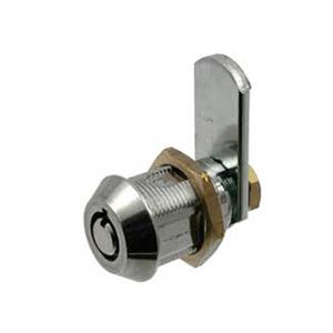 17.5mm Pin Tumbler Cam Lock, Zinc Alloy, Brass, Shiny Chrome