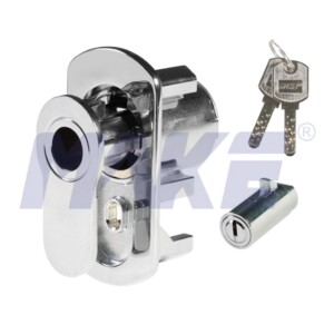 Brass Vending Machine Lock, L Pop-out Handle Operation, Nickel Plated