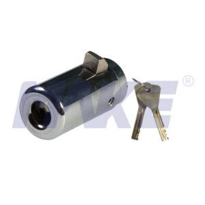 Plunger Lock for Vending Machine, Hardened Steel, Brass, Nickel Plated