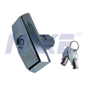 Zinc Alloy T-Handle Lock for Vending Machine, Shiny Chrome