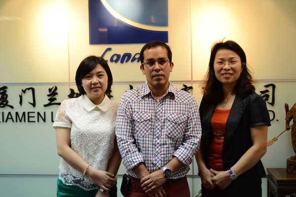 USA Clients Visited Landee Headquarter in Aug 2013