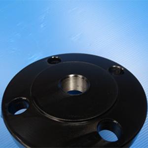 A105螺纹法兰,2英寸x NPTF 1-1/2英寸,RF,黑色