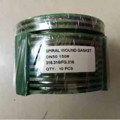 2 Inch Spiral Wound Gasket, CL150, Graphite Filter, SS Outer Ring